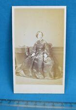 1860s CDV Carte De Visite Photo Lady In Crinoline By T.R. Williams