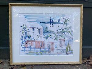 Vintage Watercolor Bermuda by Jo Birdsey Lindberg