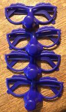 Fibber 4 Plastic Purple Glasses Game Replacement Pieces Parts Complete Full Set
