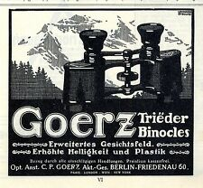 Opt. Anst. C. P. Goerz Berlin- Friedenau Trieder Binocles Erweitertes 1914