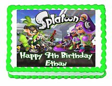 Splatoon party edible cake image cake topper frosting sheet decoration