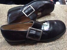 👟ECCO Size 4/37 EU Women's Black Leather Mary Jane Shoes 👠 👟