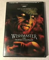 Wishmaster: The Prophecy Fulfilled DVD WS) !!FREE SHIPPING!!  Horror