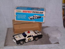 BANDAI BATTERY OPERATED, TIN FORD HIGH WAY PATROLCAR W/ORIGINAL BOX & WORKING!