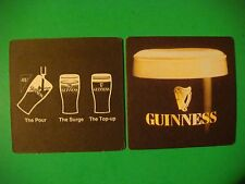 Beer Pub Mat Coaster <> Guinness <> The Pour At 45% <> The Surge <> The Top-Up