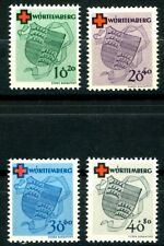 Germany Wurttemberg 1949 Red Cross S/P Complete MNH Set Scotts 8NB1 to 8NB4