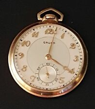 Vintage Gruen Pocket Watch 10K Gold Filled 17 Jewels Swiss