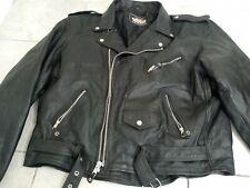 Vintage Mas Leather Motorcycle Jacket Men Size XL