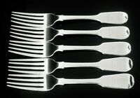 5 Antique Silver Table Dinner Forks, CRESTED, London 1839, William Eaton