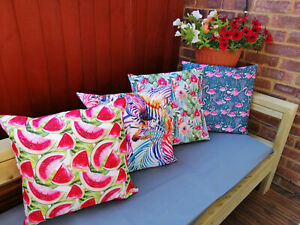Water Resistant Outdoor Cushions Cover Garden Furniture Cushion Pillow Case