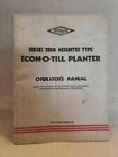 Hiniker Series 3800 Mounted Econo O Till Planter Owners Operators Manual