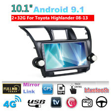 For 2008-13 Toyota Highlander Car Radio Player 10.1'' Android 9.1 2GB + 32GB GPS