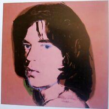 ANDY WARHOL - Retrato Mick Jagger. 18 x 18 cm