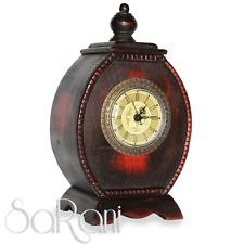 Orologio Antico Classico Legno Ciliegio Scuro da Tavolo Ovale Numeri Romani