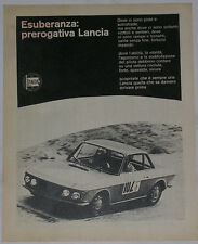 Advert Pubblicità 1967 LANCIA FULVIA COUPE'
