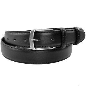 Damen Herren Jeans Gürtel mit Leder Rückseite schwarz Anzuggürtel 2,8 cm breit
