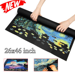 Jigsaw Storage Mat Puzzle Blanket Mat Felt Storage Roll Up For Up To 1500 Pieces