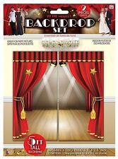 Movie Theatre Backdrop Oscars Hollywood Decor Set Wall Banner Party Cinema