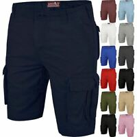 New Mens Cargo Shorts Combat Branded Knee Length Multi Pocket Half Pants 30-46