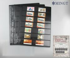 PCCB Plastic Stock Pages, BLACK, stamp banknote, 7-way division, 35mm height