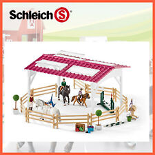 NEW SCHLEICH HORSE RIDING SCHOOL w HORSES & RIDERS 42389 EQUESTRIAN HAND PAINTED
