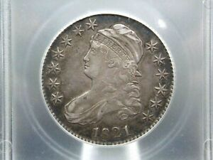 1821 Capped Bust Half Dollar 50c ICG EF45 XF East Coast Coin & Collectables