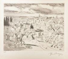 """Yves BRAYER - """"Paysage de Jérusalem"""" - 1967 - Eau-forte originale signée"""