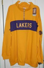 Los Angeles Lakers NBA Hardwood Classics Long Sleeve Zip Pullover 4XL Big & Tall
