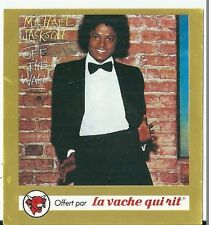 Sticker Panini La Vache Qui Rit Pochette disque Michael Jackson Off the Wall