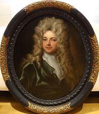 Grand 18th Siècle Français Old master Gentleman Portrait Antique peinture à l'huile