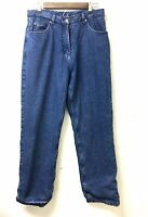 Woolrich Black Flannel Lined Jeans Women's Measured 32X31, Tag Size 10  1435