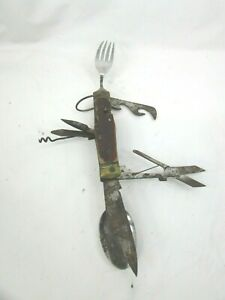 VTG Japanese hobo Boy scout pocket knife camping unique multi tool 52448