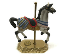 Limited Edition Carousel Series Art Horse Collection With Brass Stand - Signed