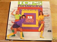 LP RECORD VINYL PIN-UP GIRL TOPS FOR DANCING ARIOLA FLOWER POWER