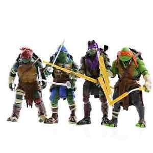 4PCS Lot TMNT Teenage Mutant Ninja Turtles Action Figures Anime Movie Xmas Gift