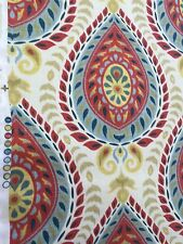 Large paisley pattern print on cotton fabric by the yard pillows drapery etc