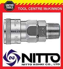 "GENUINE NITTO FEMALE COUPLING AIR FITTING WITH 3/8"" MALE THREAD (30SM) – JAPAN"