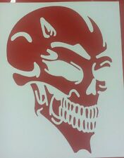 Devil Skull - Red std - Car Van Window Vinyl graphics sticker Decal Tribal