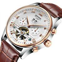 Tourbillon Automatic Mechanical Men's Wrist Watch Sapphire Crystal Wristwatches