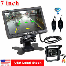"""7"""" Monitor for RV Truck+Wireless IR Rear View Back up Camera Night Vision System"""