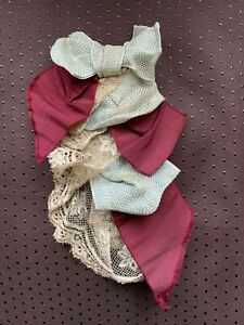 Beautiful Antique French Edwardian Ladies Tie with Lace & Ribbons