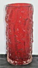 Whitefriars Ruby Bark Vase 9691