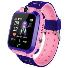 Q12B Touch Screen Kids Smart Phone Watch Camera SOS Call Safety Zone Alarm Pink