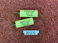 Pair ex TANNOY Golds crossovers ARCO 3.3F 100V capacitors (261270)