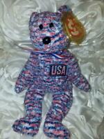 TY Beanie Baby - USA- Fourth of July- Red, White & Blue- July 4, 2000 Retired