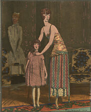 Gazette Du Bon Ton Brissaud DITES BONSOIR ET...  AU LIT Fashion POCHOIR Art Deco