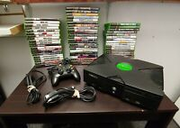 Original Xbox  Black Console Bundle with Games Controller Cables NTSC Fast Ship