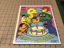 vintage FRAME TRAY Puzzle: 1988 playskool SESAME STREET - HAPPY BIRTHDAY