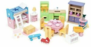 Le Toy Van DOLL HOUSE STARTER FURNITURE SET Wooden Toy BN