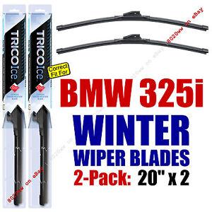 WINTER Wiper Blades 2-Pack Super-Premium fit 1987-1991 BMW 325i - 35200x2